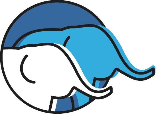 Zwei Elefanten als Symbol für Freundschaft