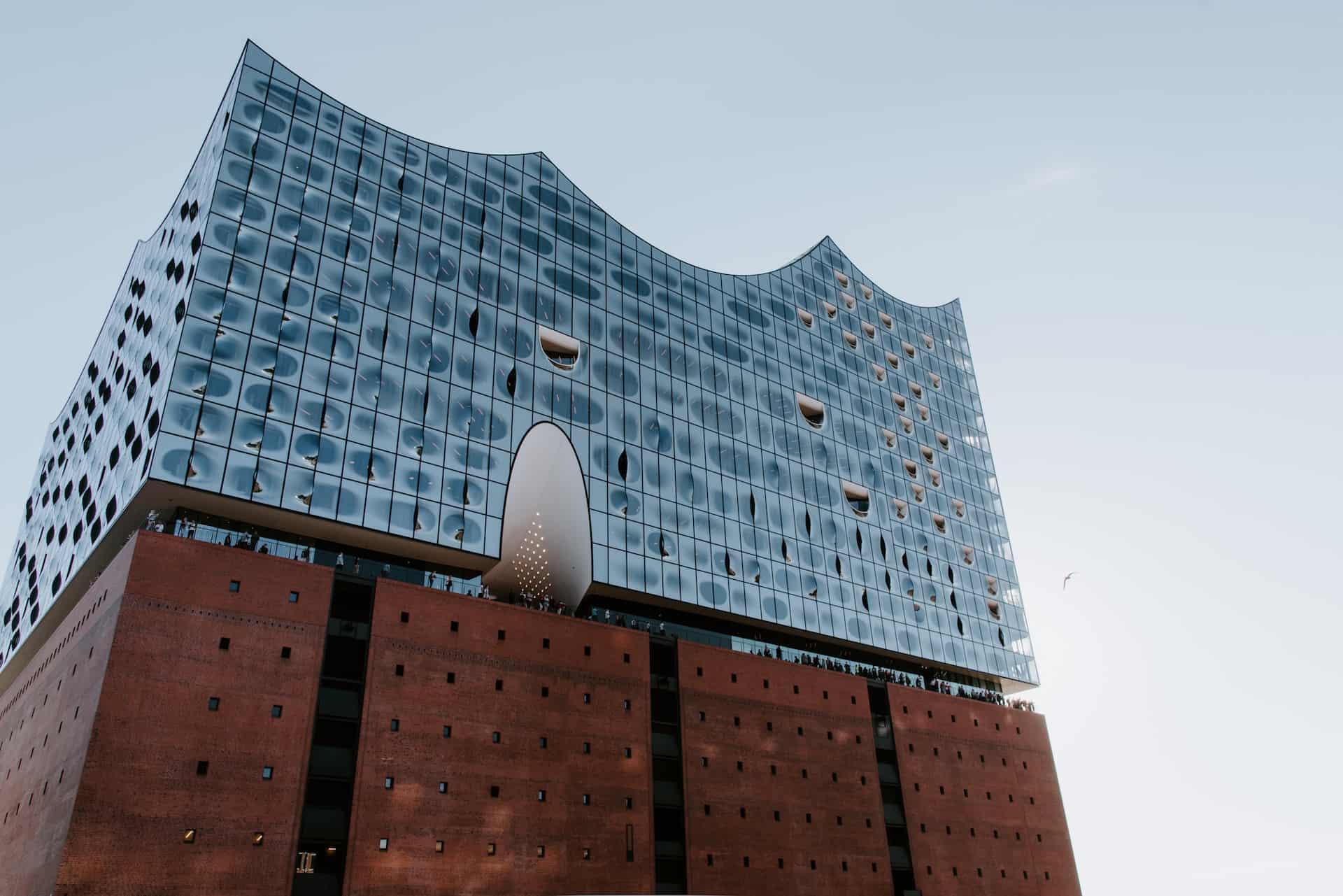 Elbphilharmonie Hamburg von unten