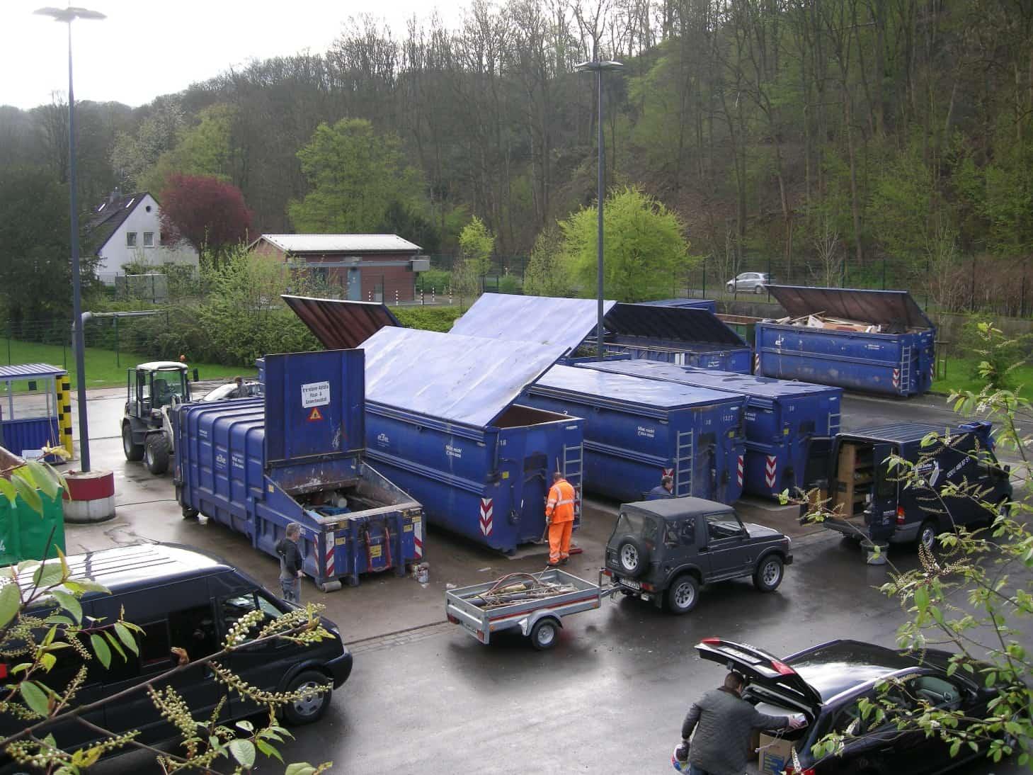 Blick auf einen Essener Recyclinghof