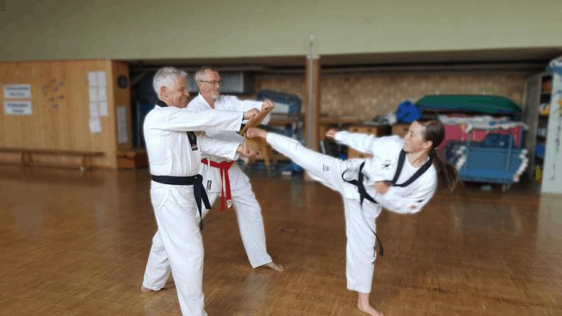 Bruchtest beim Taekwondo