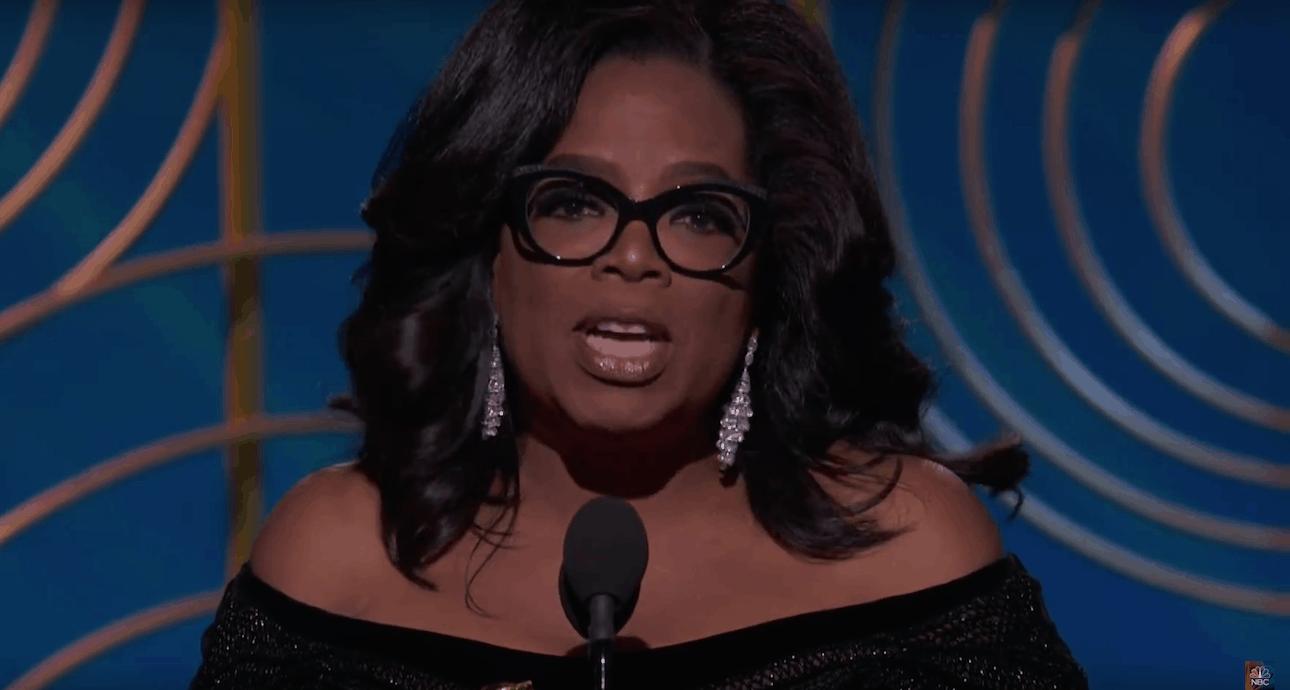 Oprah Winfrey bei den Golden Globes