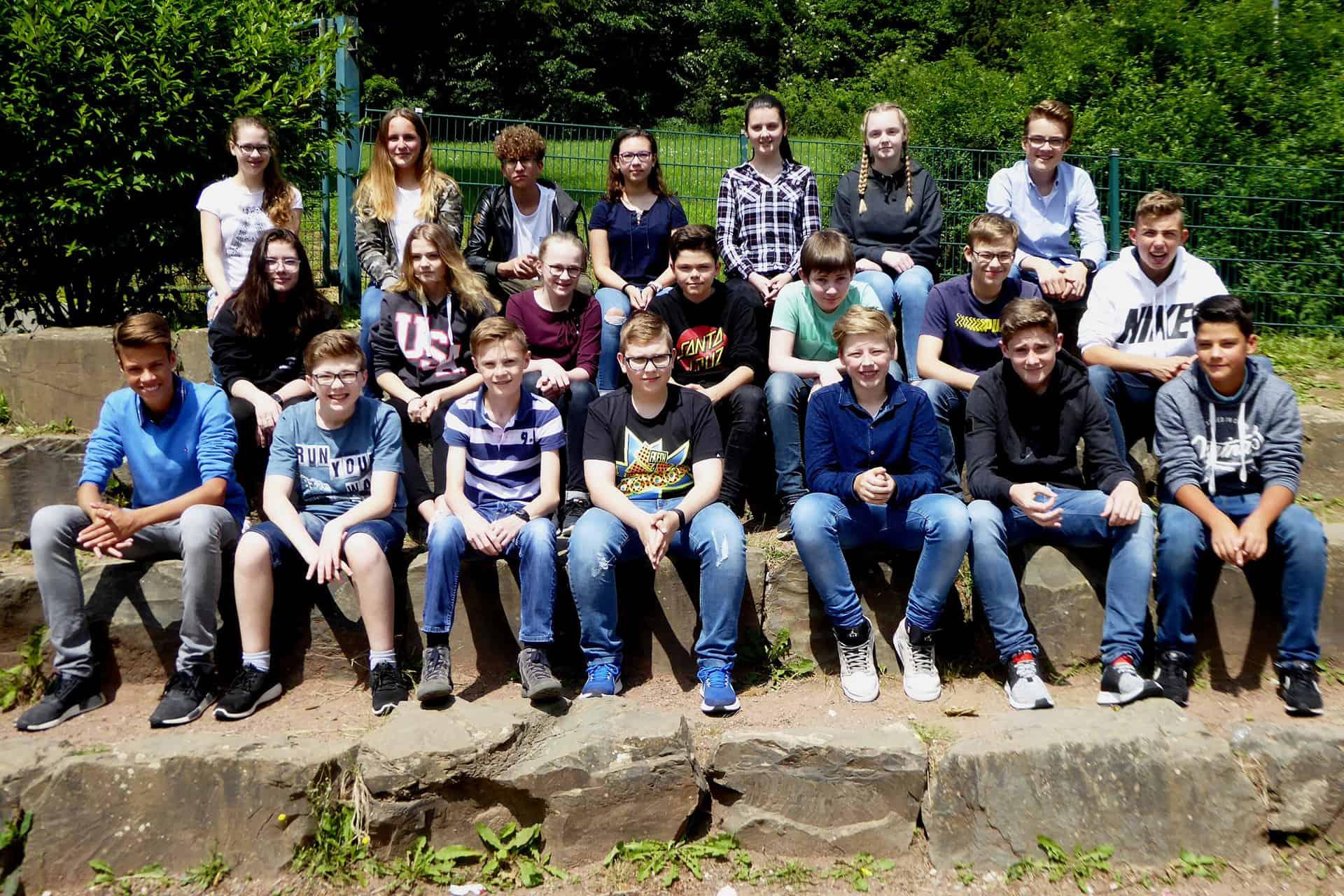 Die Klasse 8c des St.-Ursula-Gymnasiums in Attendorn