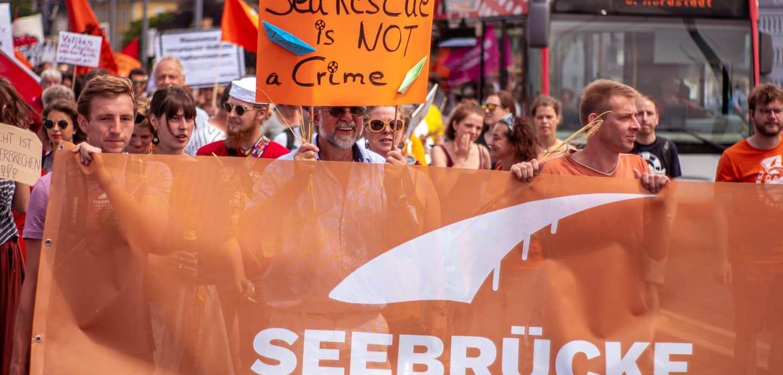 Demonstration für Seenotrettung