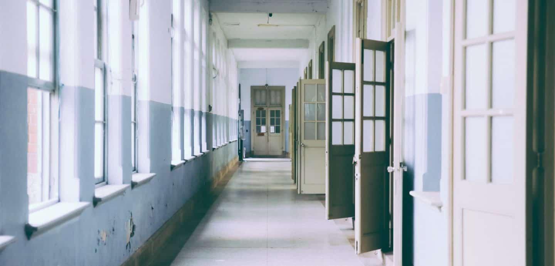 Flur einer Schule