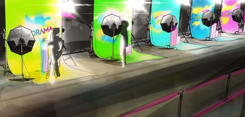 Blitzlichtgewitter auf der Stylorama