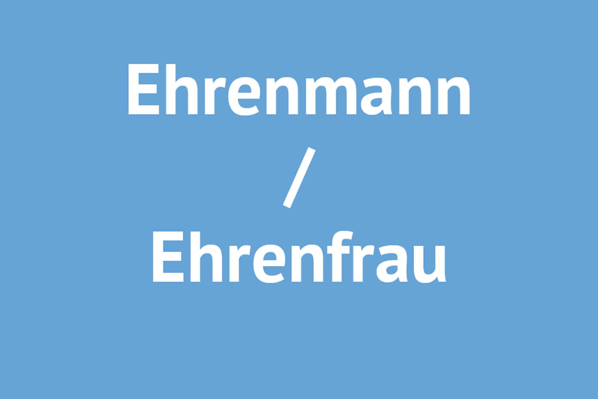 Ehrenmann / Ehrenfrau