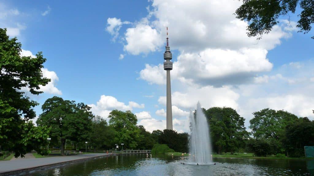 Ansicht des Westfalenparks in Dortmund