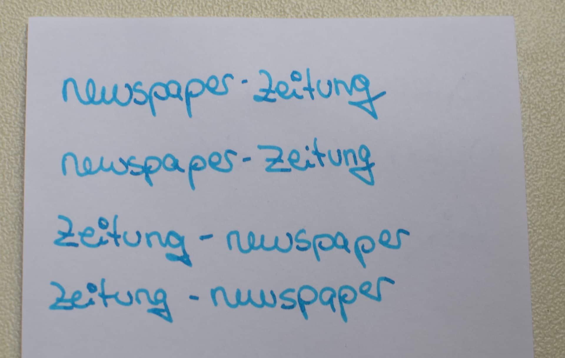 Newspaper heißt Zeitung