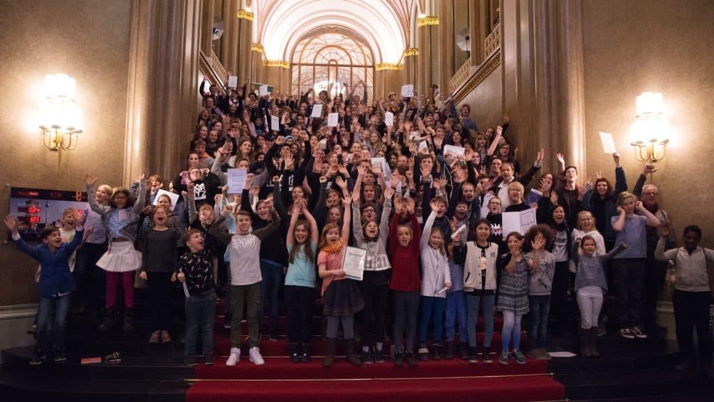 Alle Schülerredaktionen im Roten Rathaus