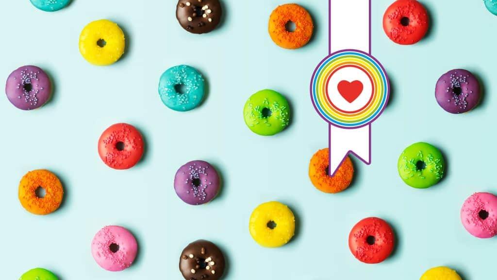Donuts drücken Vielfalt aus