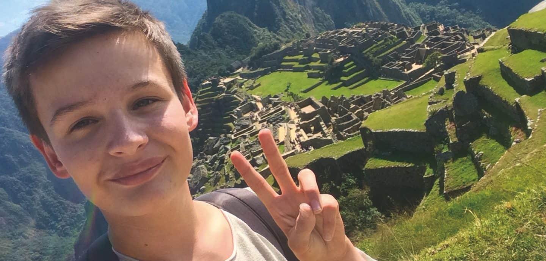 Marians Selfie aus Machu Picchu