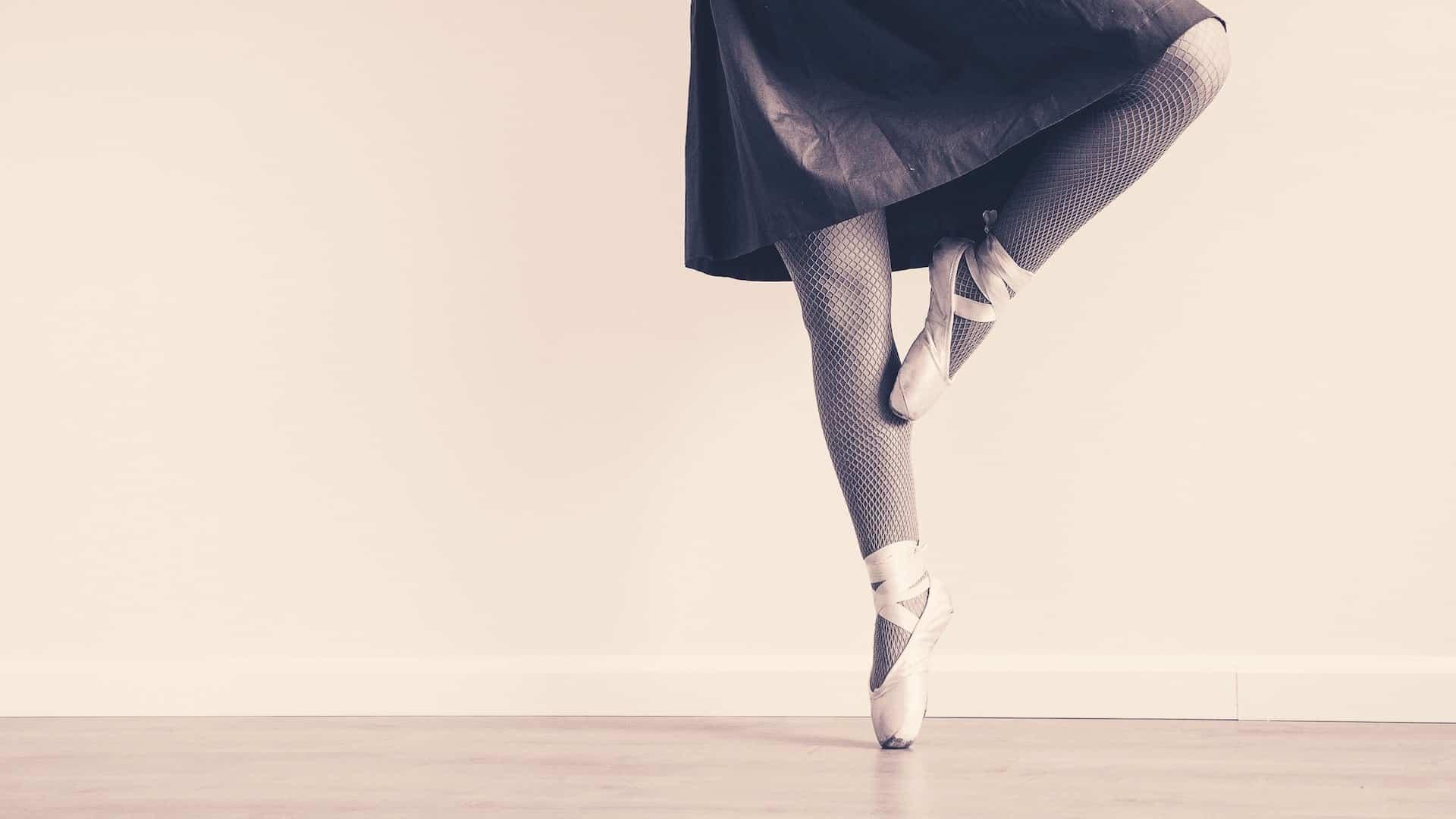Beine Balletttänzerin
