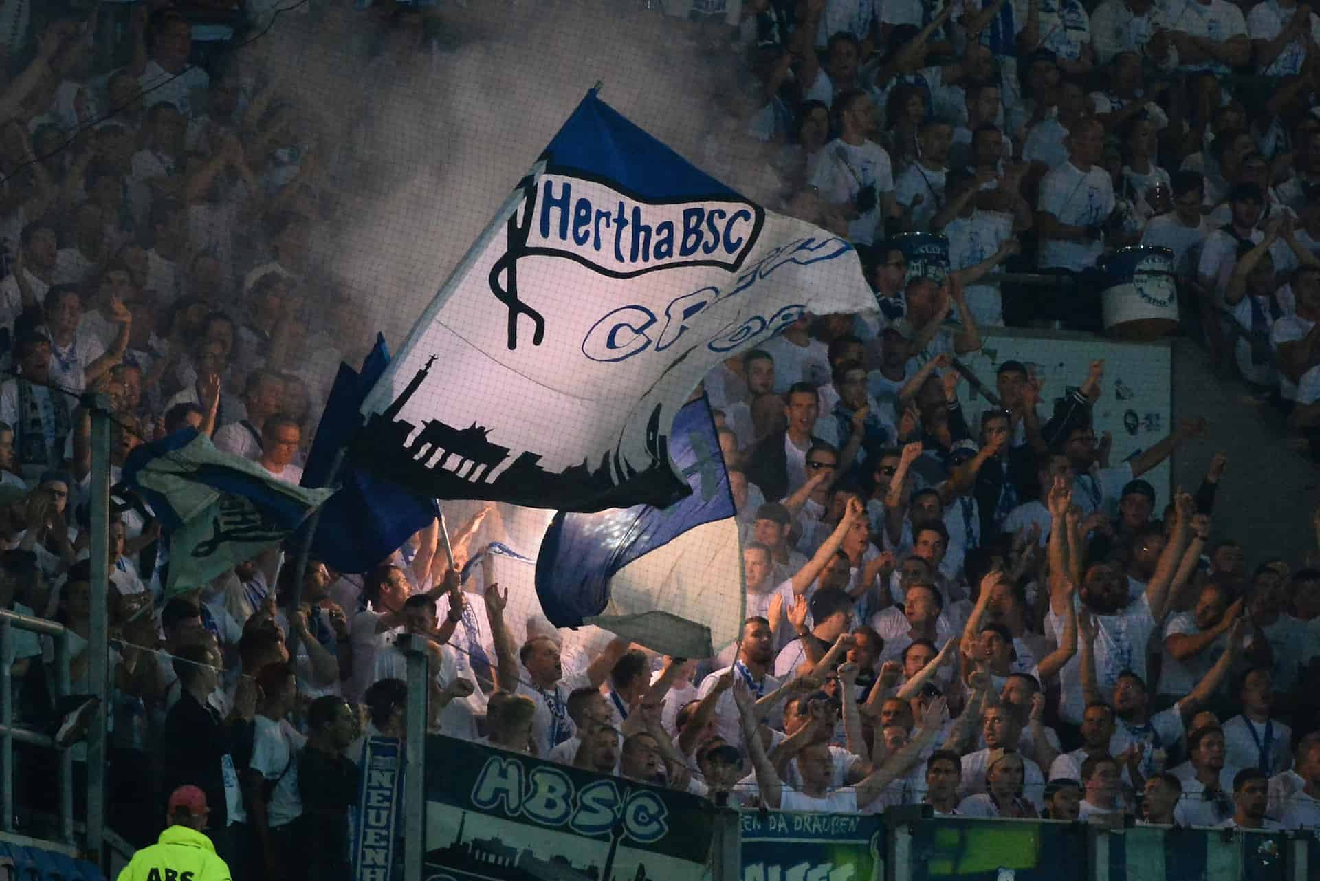 Hertha-Fans beim DFB Pokal