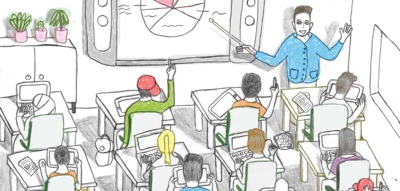 Gezeichnetes Klassenzimmer