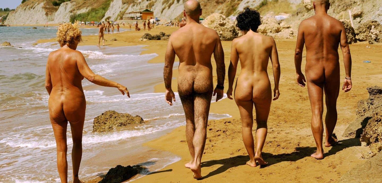 Nudisten am Strand