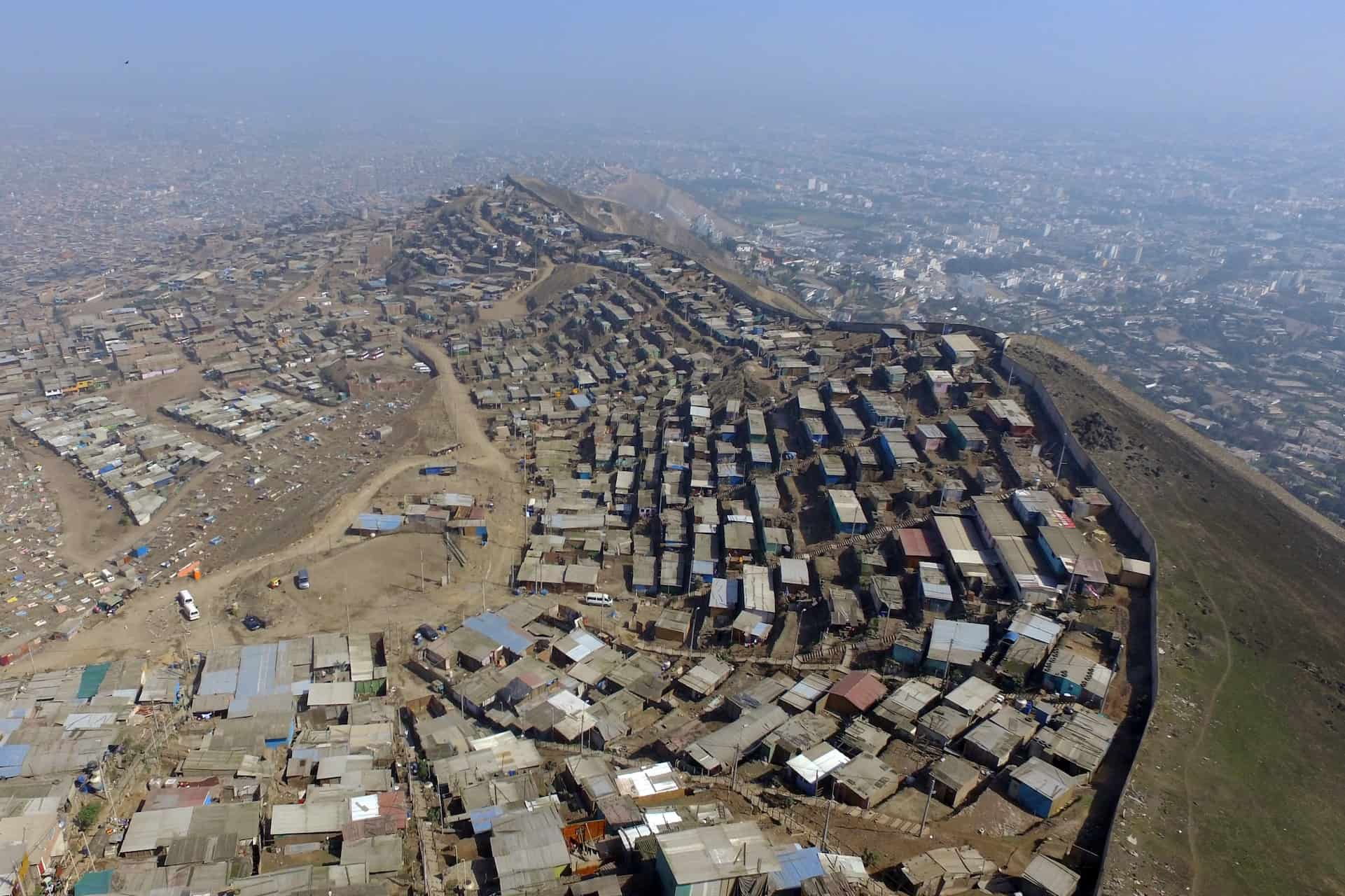 Blick über die Stadt Lima in Peru