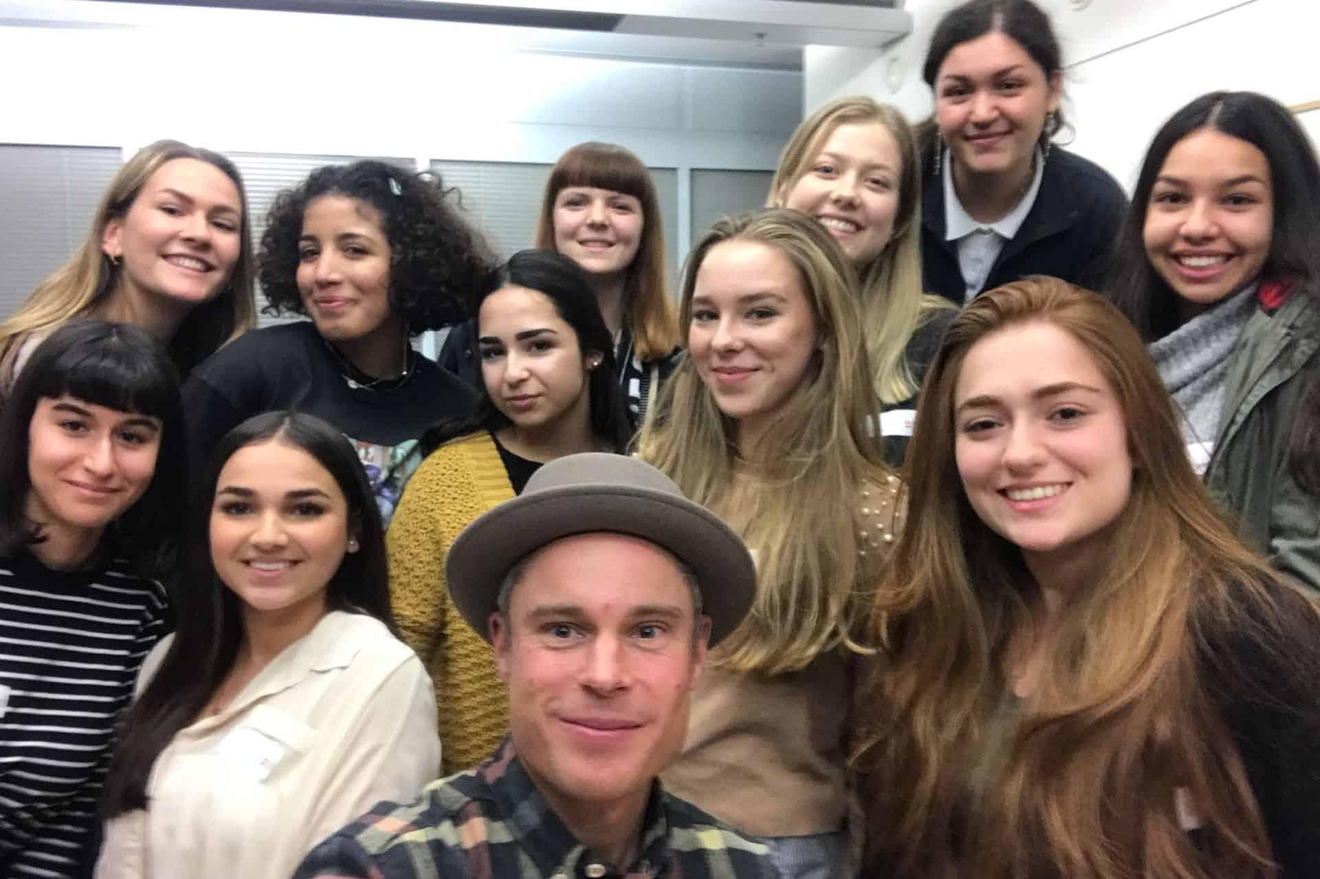 Selfie mit vielen angehenden Moderatoren