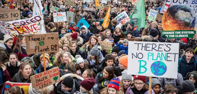 Demonstrierende Schüler in Berlin