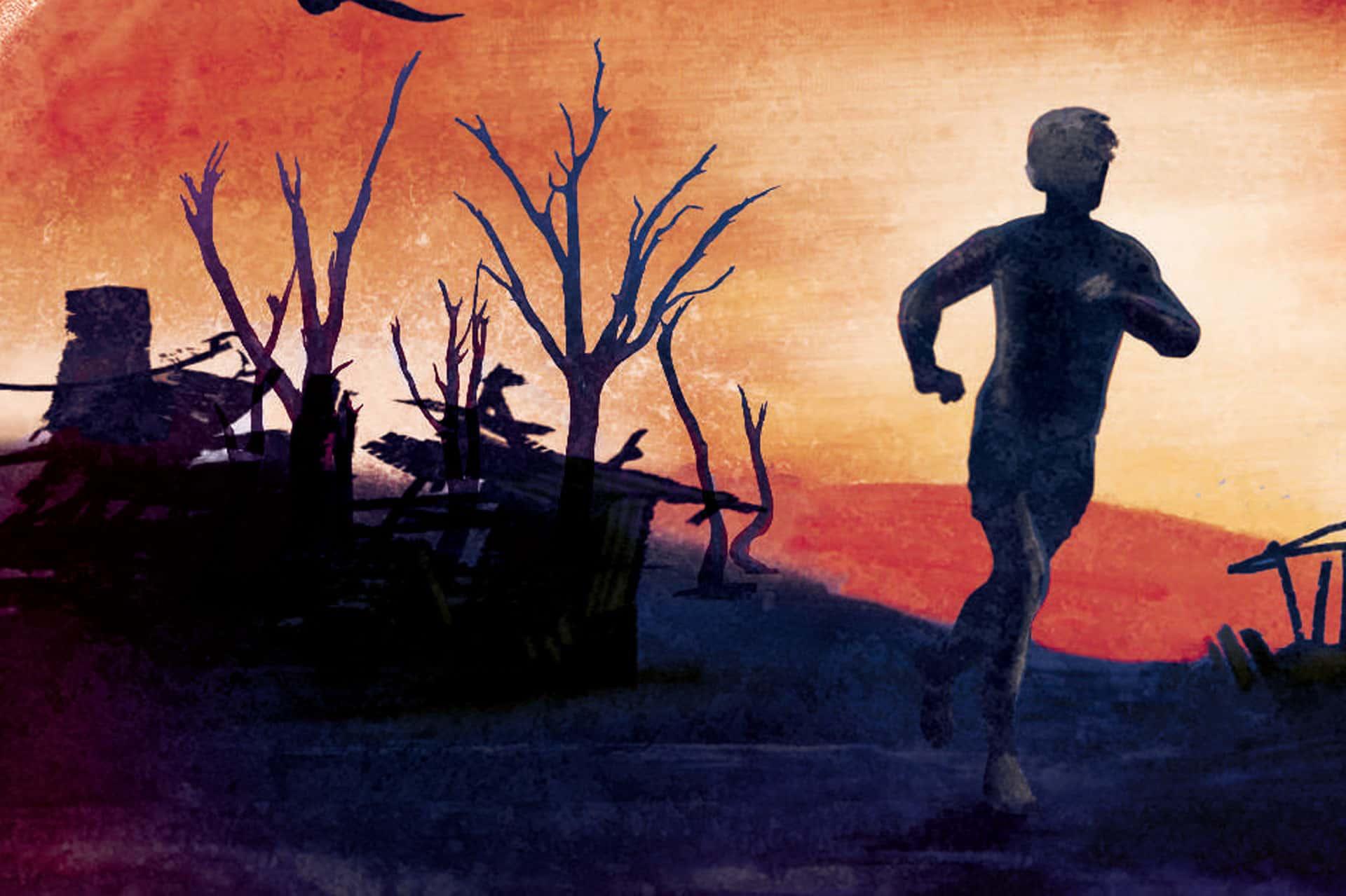 Zeichnung eines Jungen, der rennt (c) dtv