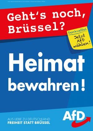Plakat zur Europawahl AfD