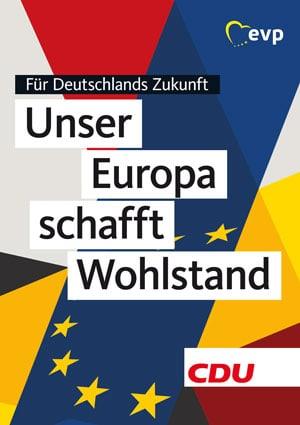 Plakat zur Europawahl CDU/CSU