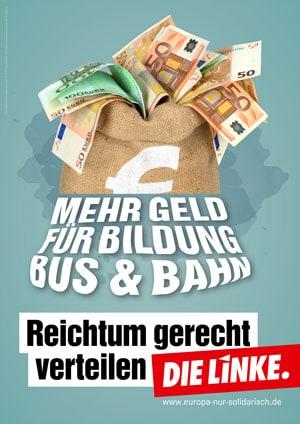 Plakat zur Europawahl Die Linke