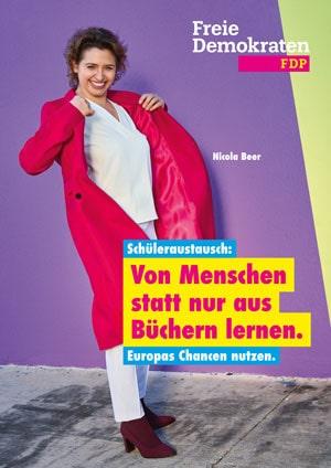 Plakat zur Europawahl FDP