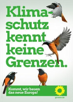 Plakat zur Europawahl Die Grünen