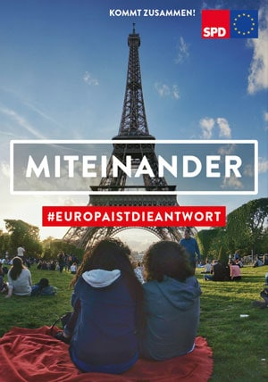 Plakat zur Europawahl SPD