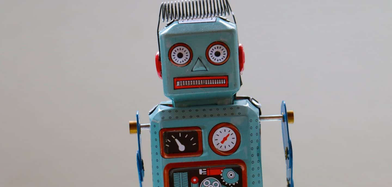 blauer Roboter