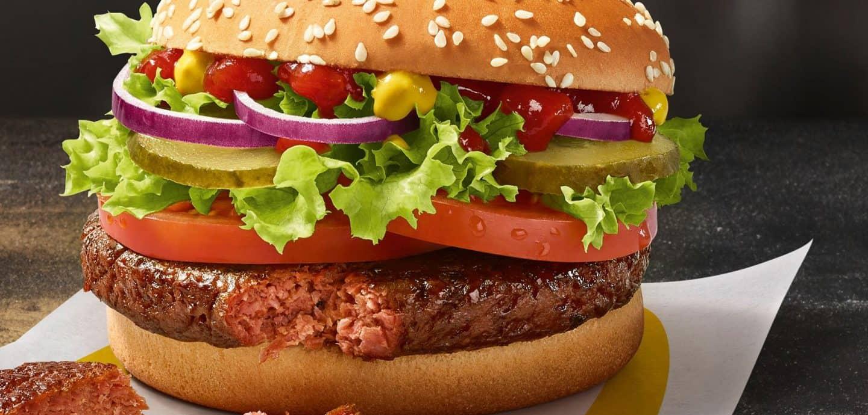 der neue vegane Burger von McDonald´s. FOTO: MCDONALD'S