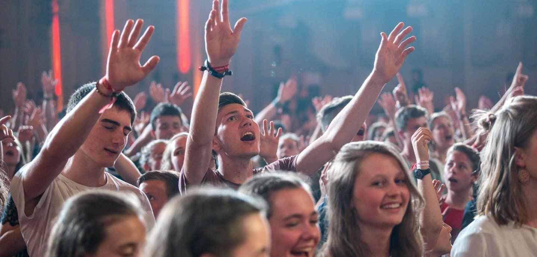 Jugendliche beim Jugendpfingstfest in Salzburg
