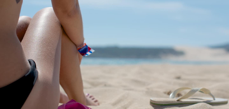 Hautrisiken werden beim Sonnenbaden oftmals nicht bedacht.