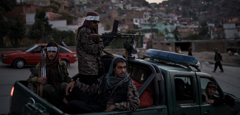 Taliban in Afghanistan auf einem Pickup