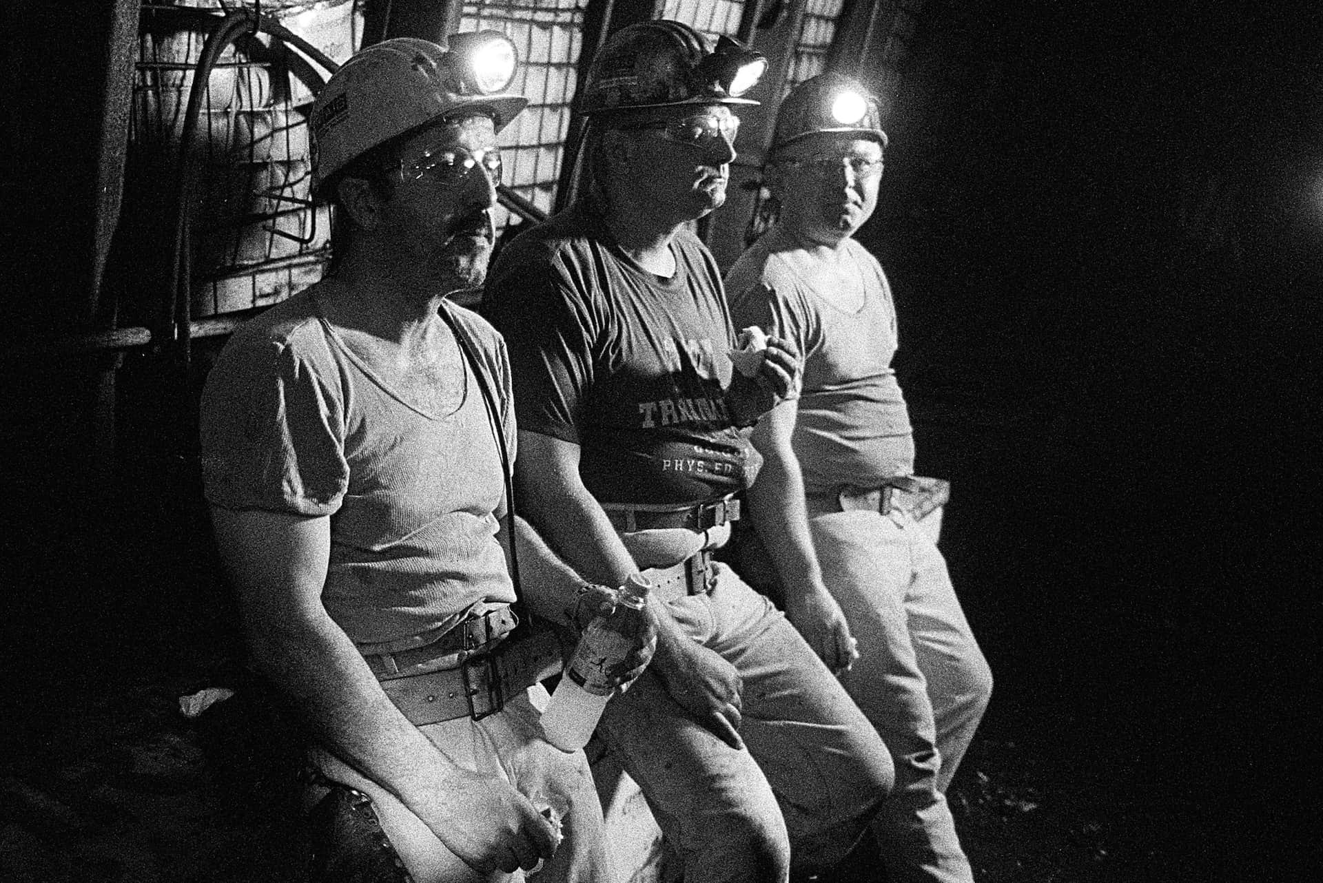 Bergleute in Zeche Prosper Haniel