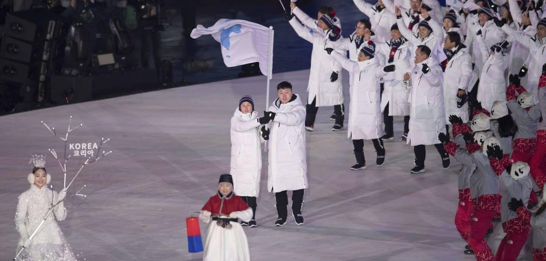 Olympia Einmarsch Korea
